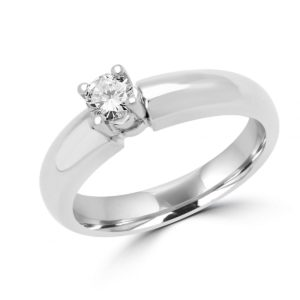 Round diamond solitaire ring 0.24 (ctw) in 14k white gold