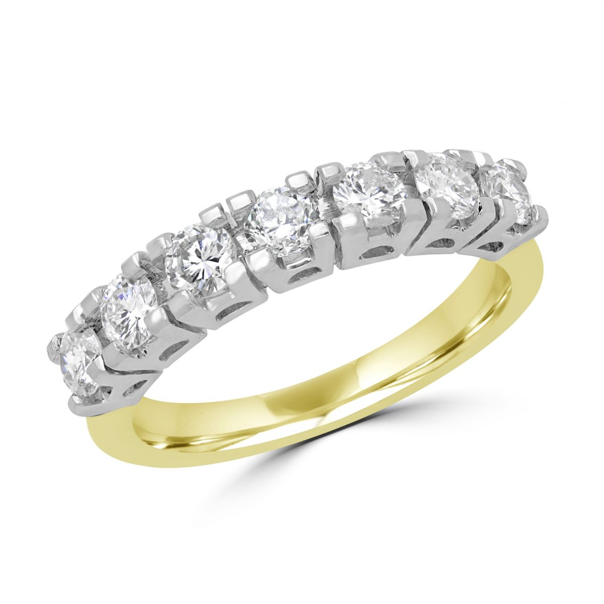 086 CARAT CTW SEMIETERNITY DIAMOND WEDDING BAND ANNIVERSARY RING
