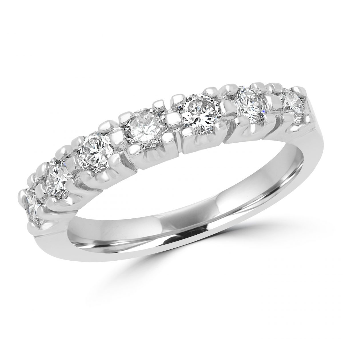 channel ring in ct diamond gold eternity twt set bands princess da band engagement white cut