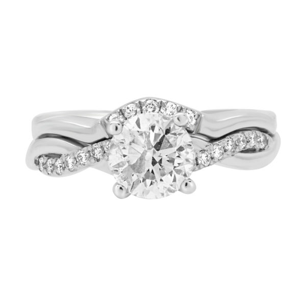 1.07 CT I2 I + 0.12 CT SI TOTAL 1.19 CT ENGAGEMENT RING 14K WHITE GOLD.