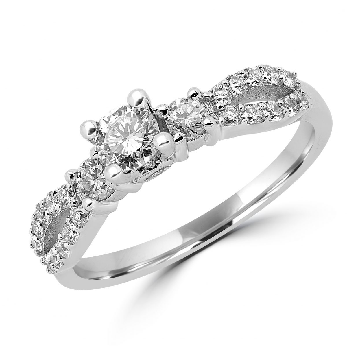 Flawless Engagement Ring 0.83 (ctw) In 14k White Gold