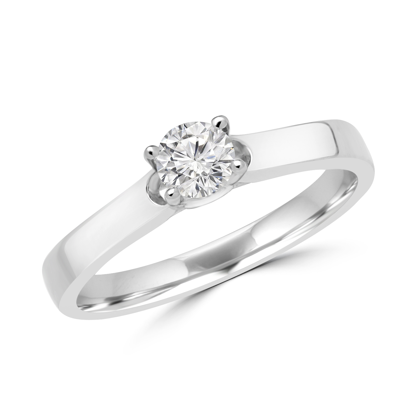 0.22+0.06 CARAT ROUND BRILLIANT DIAMOND ENGAGEMENT RING IN WHITE GOLD