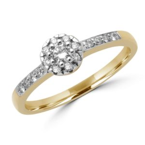 Intricate halo engagement ring 0.19 (ctw) in 10k yellow gold
