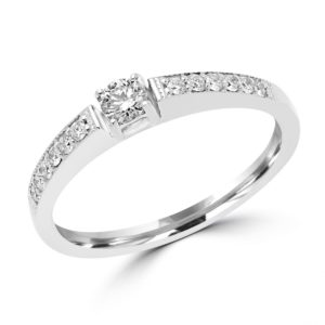 Sparkly engagement ring 0.27 (ctw) in 14k white gold