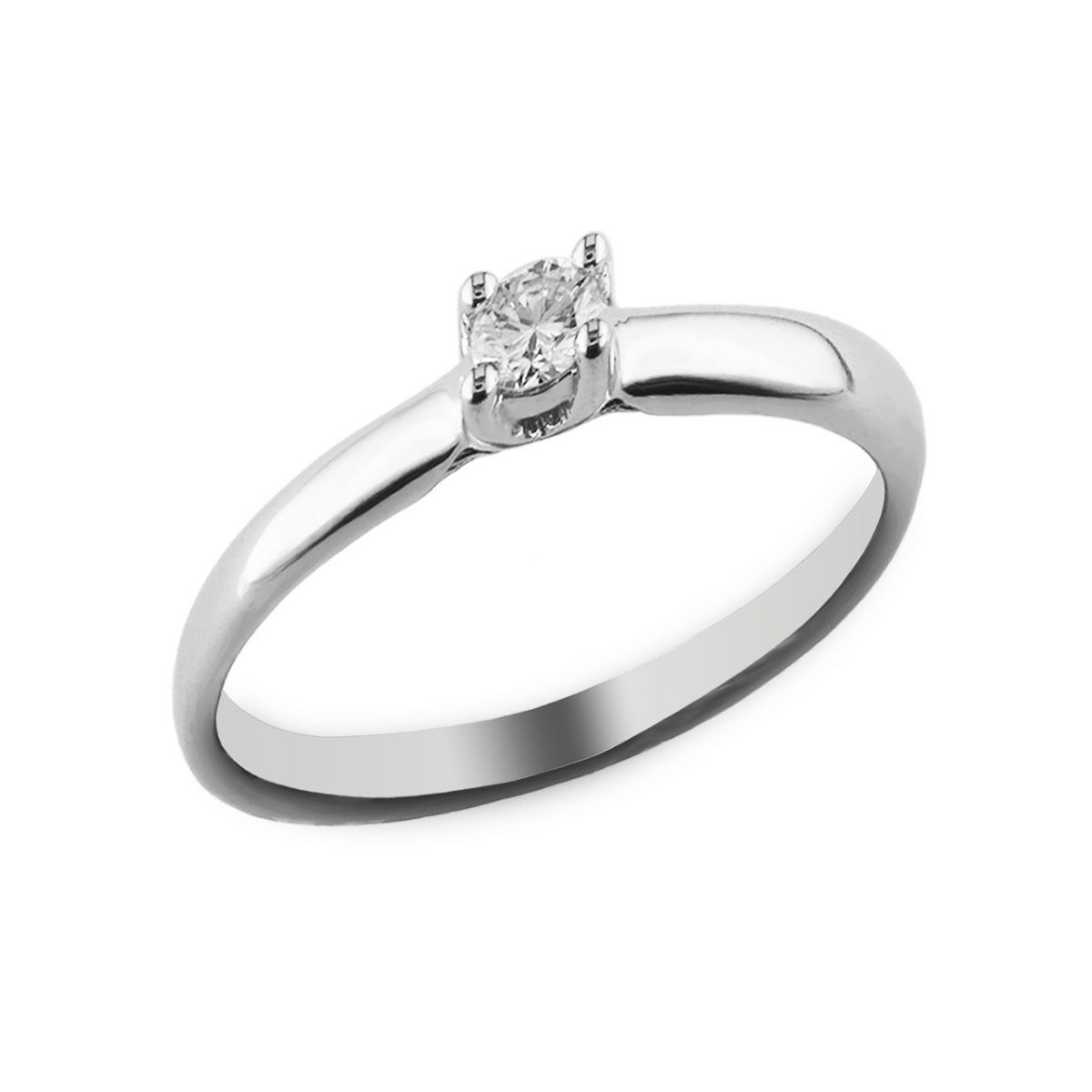 carat round diamond solitaire promise ring in 10k. Black Bedroom Furniture Sets. Home Design Ideas