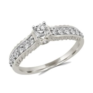 Precious engagement ring 0.51 (ctw) in 14k white gold