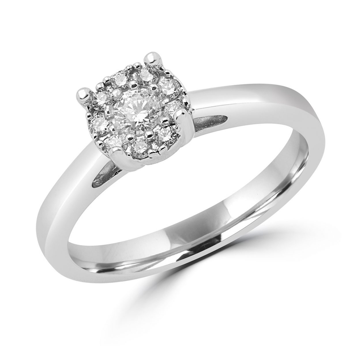 Round Cut Solitaire Engagement Ring 0.22 (ctw) In 14 K