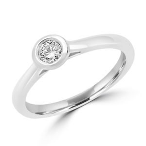 Delicate engagement ring 0.18 (ctw) in 14k white gold
