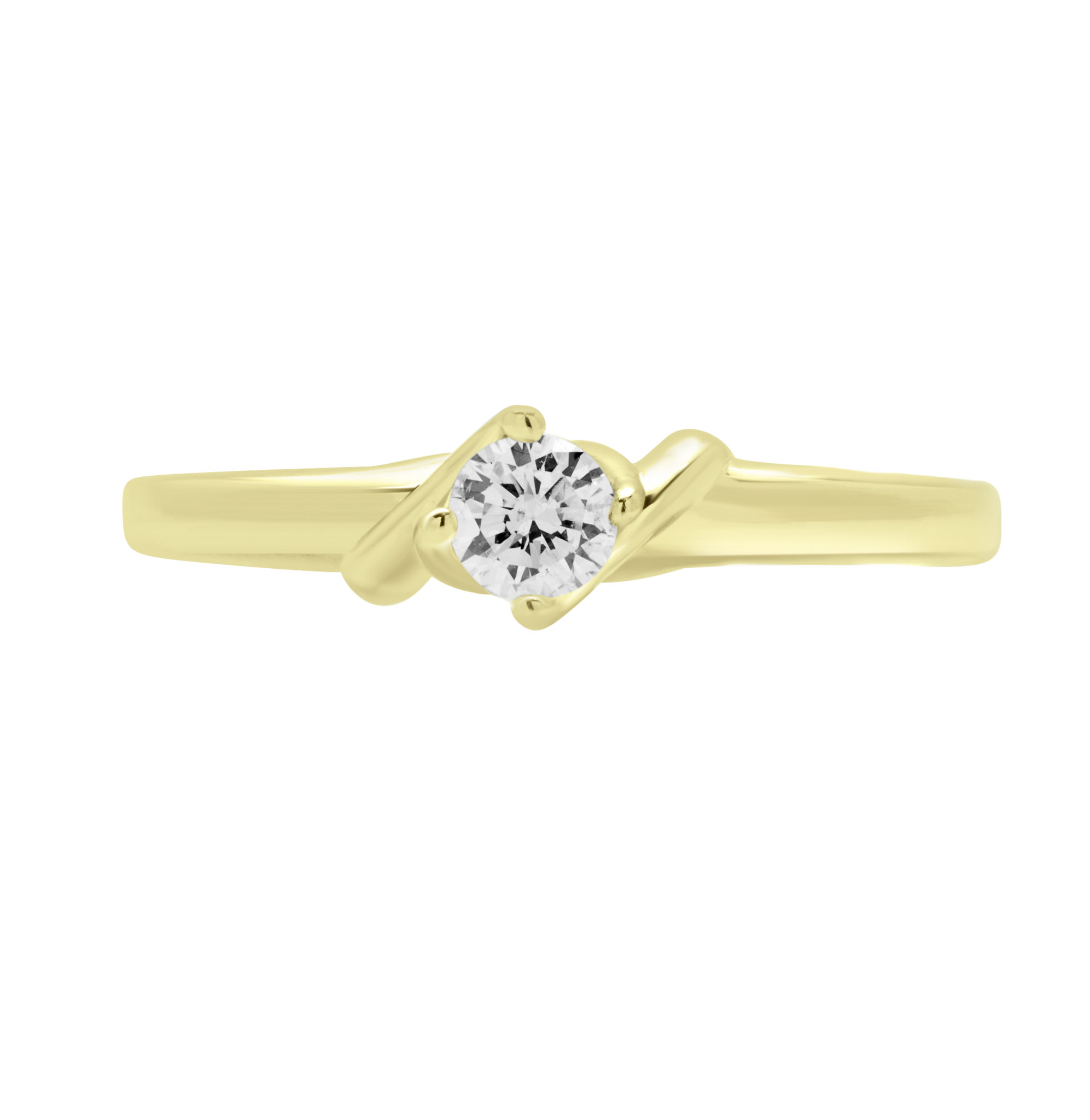FABULOUS ROUND DIAMOND ACCENT SOLITAIRE ENGAGEMENT RING IN 14K GOLD