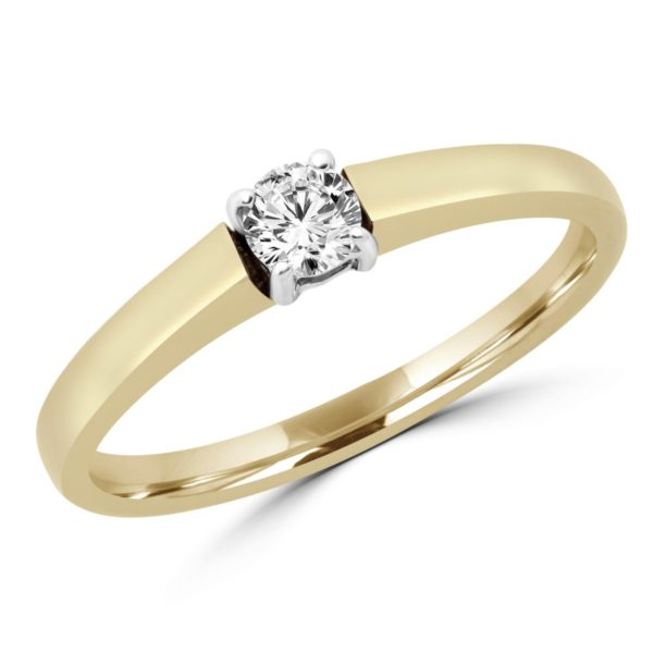 Lovely solitaire engagement ring in 10k yellow gold