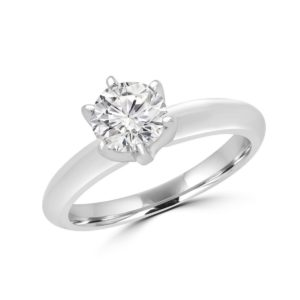6 Prong solitaire engagement ring 0.39 (ctw) in 14k white gold