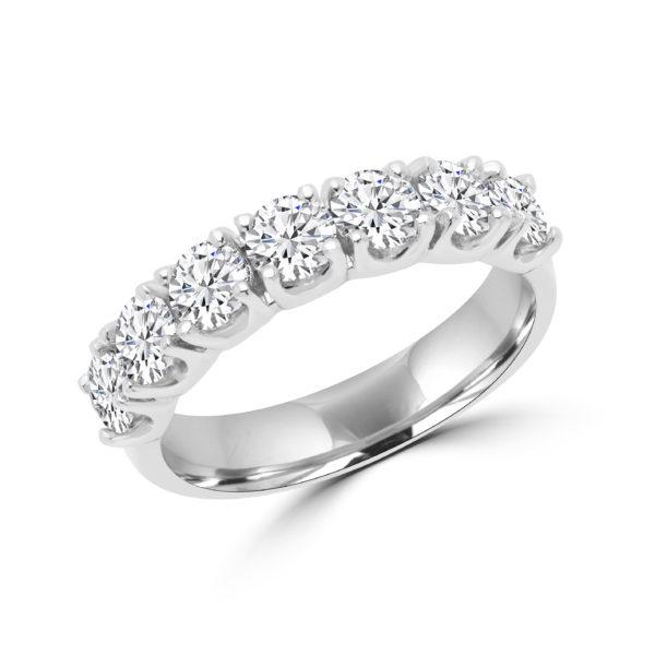 Elegant semi-eternity ring 1.60(ctw) in 14k white gold