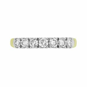 0.60 CARAT (CTW) 7-STONE DIAMOND SEMI-ETERNITY WEDDING BAND ANNIVERSARY RING IN 14K YELLOW GOLD