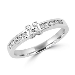 Exquisite engagement ring 0.20 (ctw) in 10k white gold