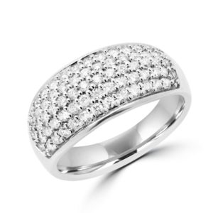 Multi stone diamond cocktail ring 0.70 (ctw) in 14k white gold