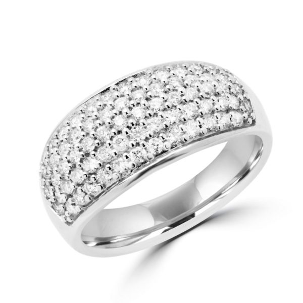 Multi stone diamond cocktail ring 0.70 (ctw) in 14k white gold