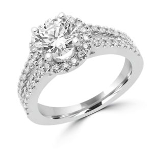 Halo ring center diamond 1.31 vvs g gia side diamonds 0.50 ct