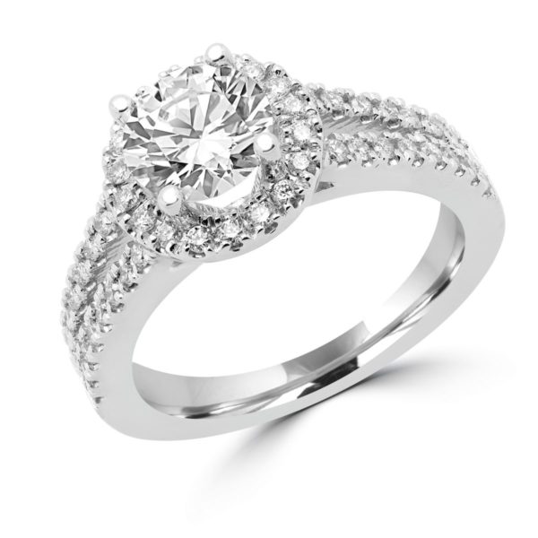 Halo ring center diamond 1.31 vvs g gia side diamonds 0.50 ct