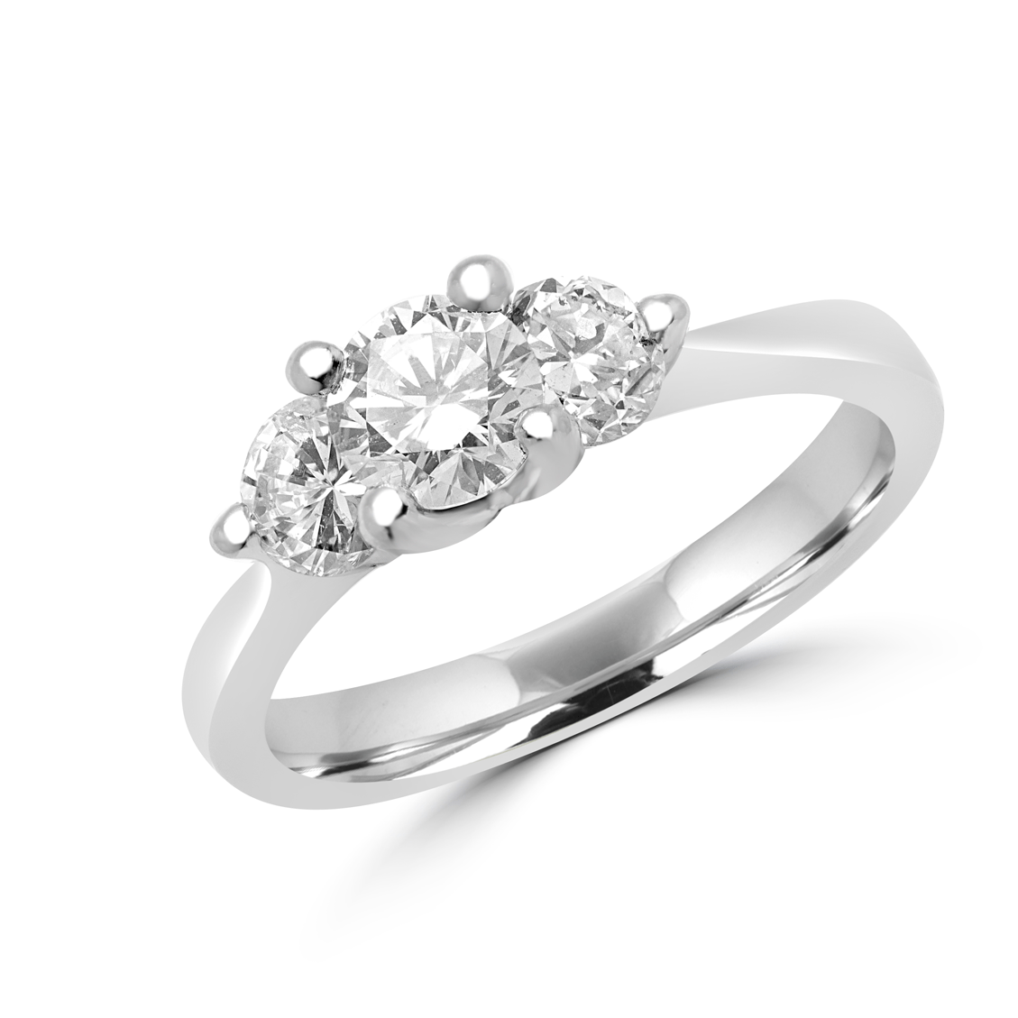 Dream Wings Engagement Ring 1.08 (ctw) In 14k White Gold