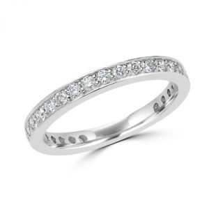 Eternity anniversary wedding band 0.62 in 14k white gold