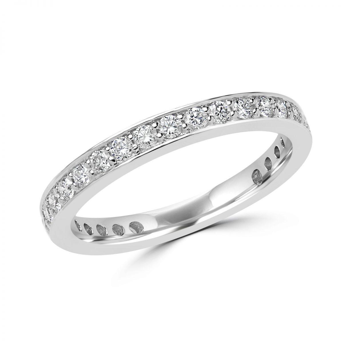 062 CARAT CTW DIAMOND SIZEABLE ETERNITY WEDDING BAND ANNIVERSARY