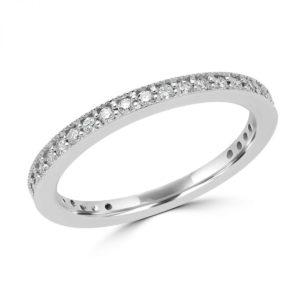 Eternity diamond wedding band 0.33 (ctw) in 10k white gold