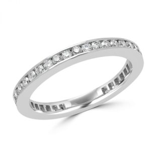 Eternity anniversary wedding band 0.70 (ctw) in 14k white gold