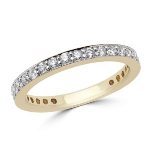 Eternity anniversary wedding band 0.62 (ctw) in 14k yellow gold