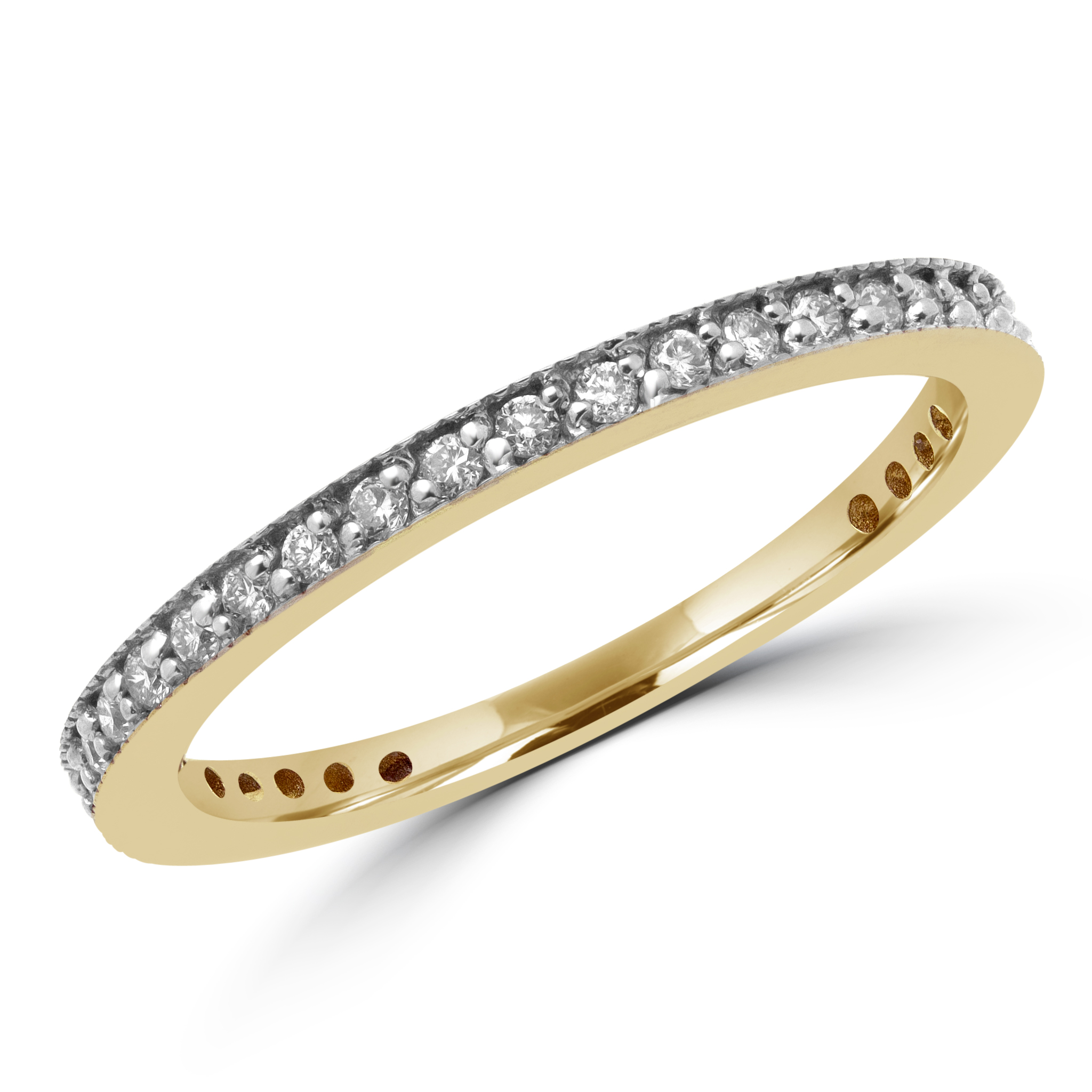 Eternity diamond wedding band 0.33 (ctw) in 10k yellow gold