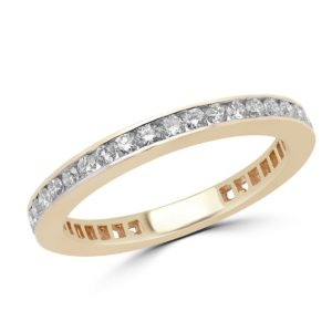 Eternity anniversary wedding band 0.70 (ctw) in 14k yellow gold