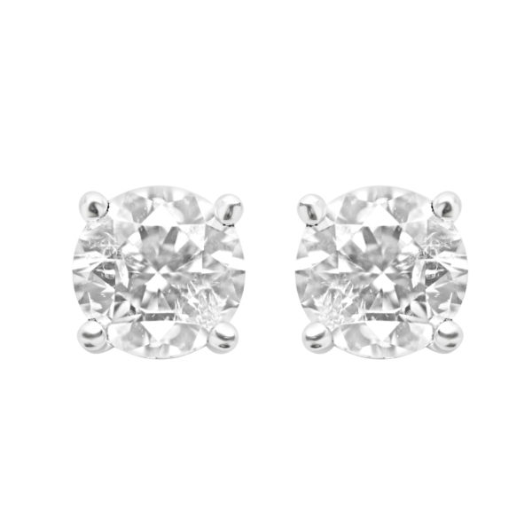Diamond stud earrings 1.00(ctw) in 14k white gold
