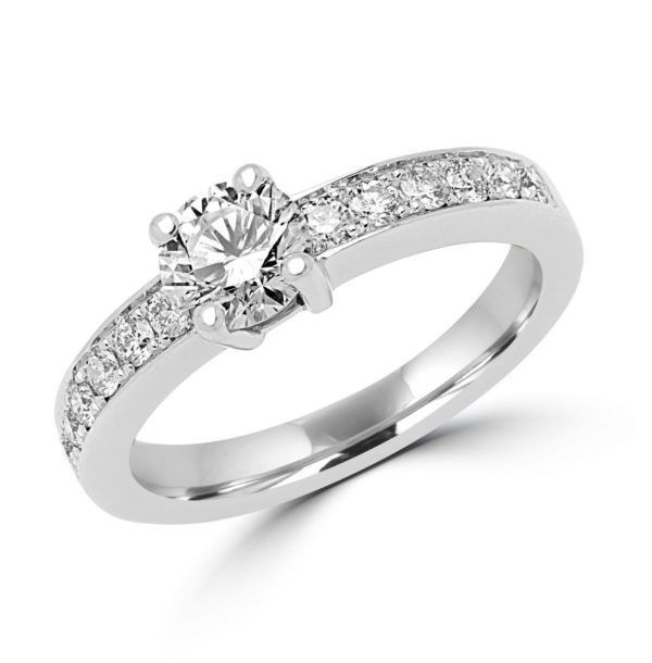 Dazzling engagement ring 1.27 (ctw) in 14k white gold