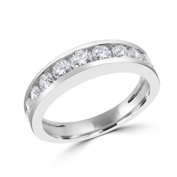 Semi eternity wedding band 1.01 (ctw) in 14k gold