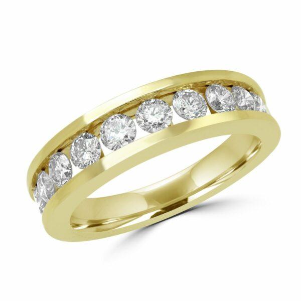 Semi eternity 1.35 (ctw) in 14k yellow gold