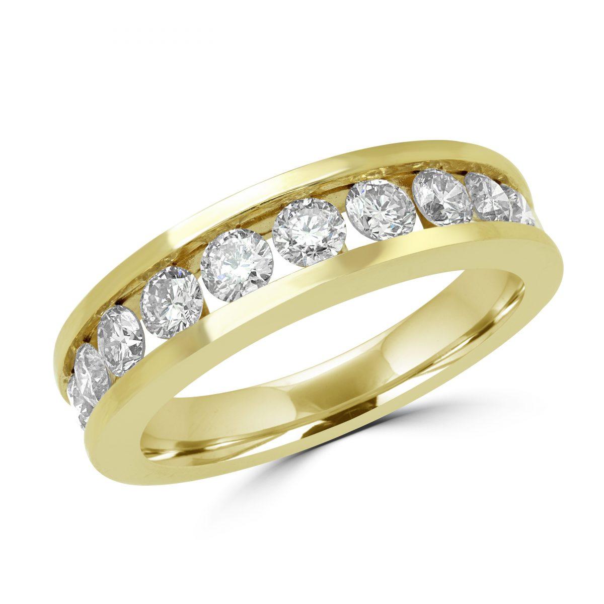 135 CT CHANNEL SET ROUND DIAMOND ETERNITY WEDDING BAND ANNIVERSARY