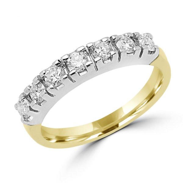 Semi-eternity ring 0.56 (ctw) in 14k two tone gold