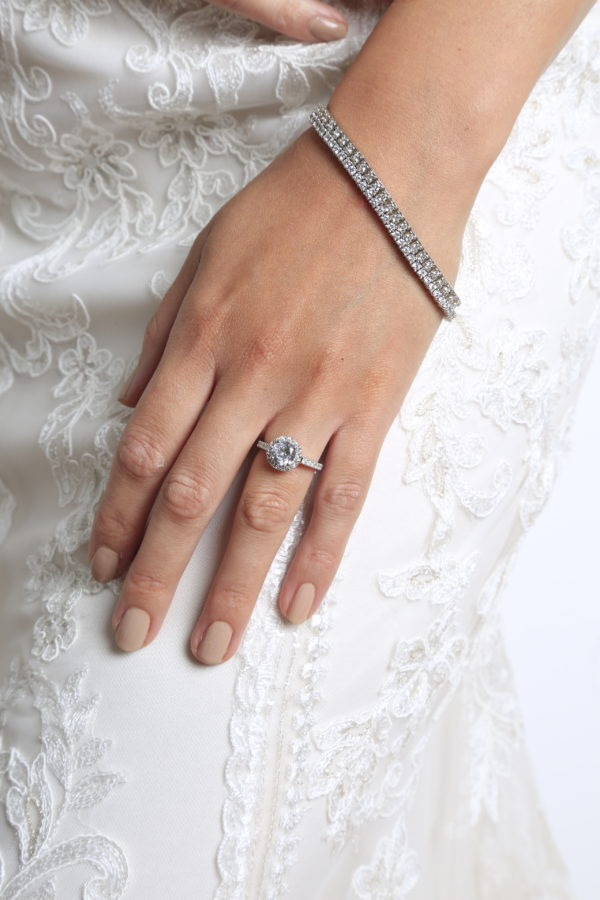 Omg engagement halo ring (1.50 ctw) in 14k white gold