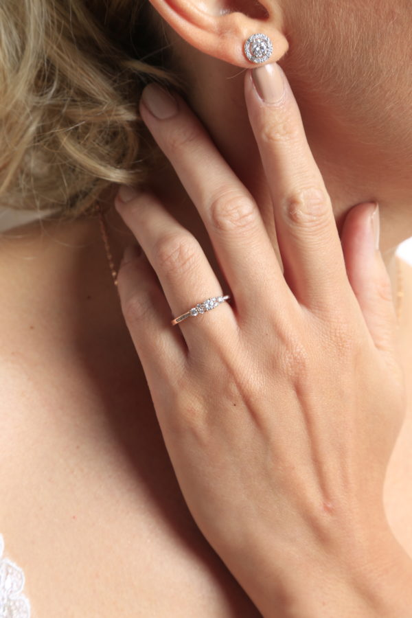 Charming engagement anniversary ring 0.42 (ctw) 14k Gold