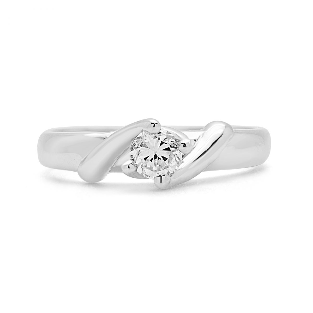 b michael diamond pave ring paris rings solitaire engagement