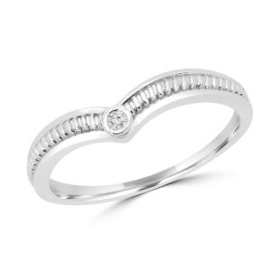 Round diamond 0.02 ct promise ring 10k white gold