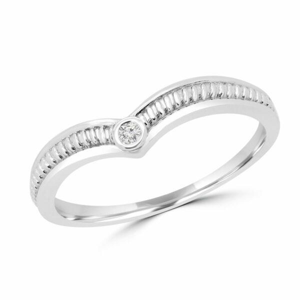 Round diamond 0.02 ct promise ring 10k white gold