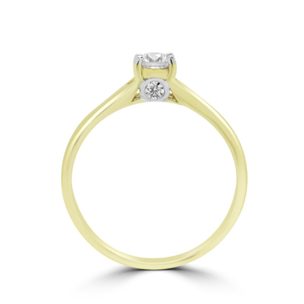 ROUND BRILLIANT SOLITAIRE DIAMOND ENGAGEMENT RING IN 14K YELLOW GOLD