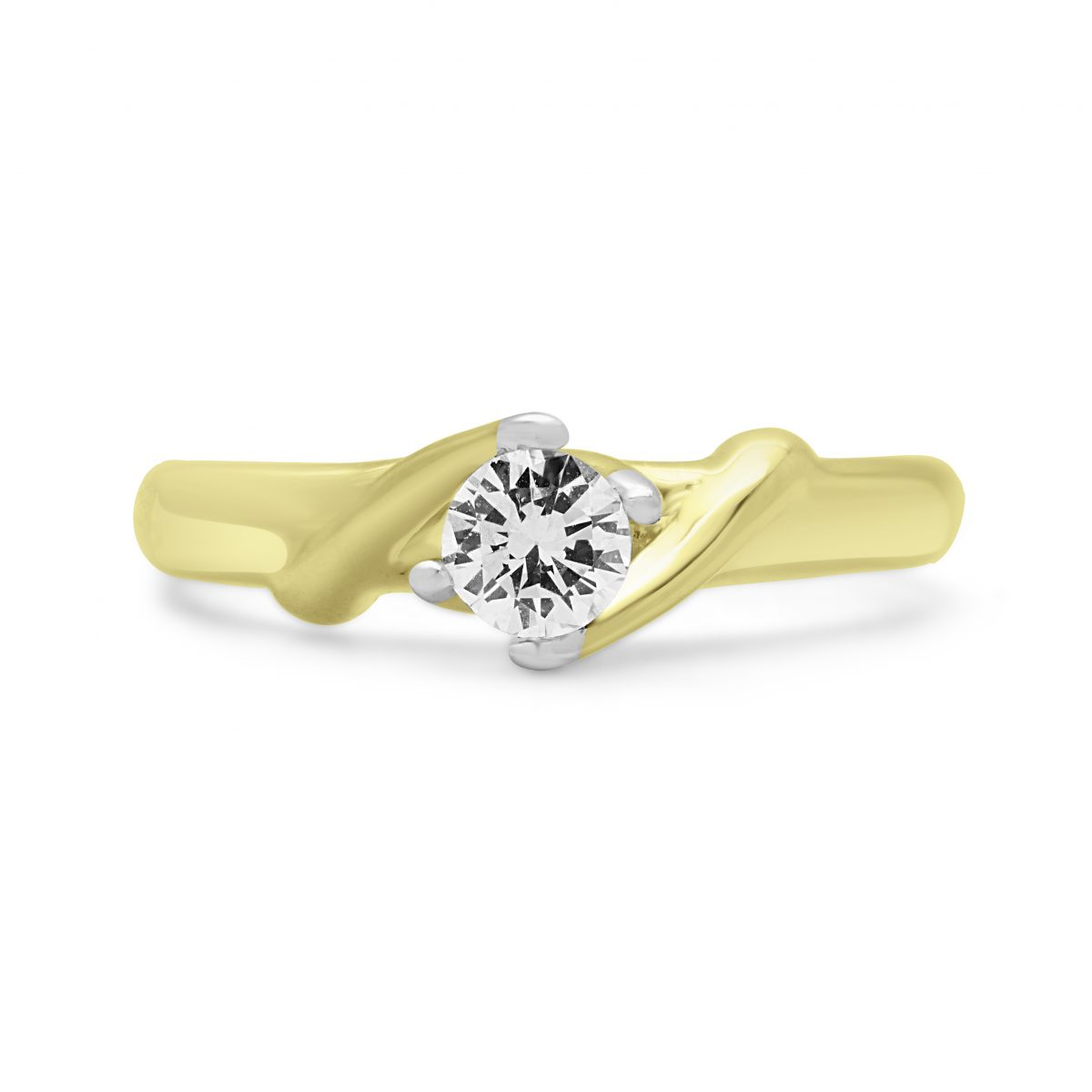 genuine princess ladies promise ring cut white solitaire engagement rng jewellery diamond gold