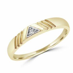 0.02 CARAT ROUND DIAMOND PROMISE RING IN 10K YELLOW GOLD