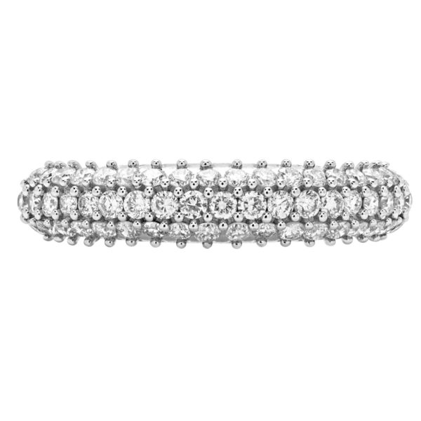 0.58 CARAT (CTW) DIAMOND FASHION ANNIVERSARY RING WEDDING BAND IN 14K WHITE GOLD