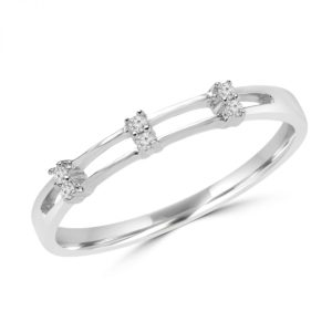 0.06 carat round diamonds promise ring in 10k white gold