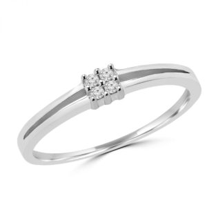 0.04 carat diamond promise ring in 10k gold