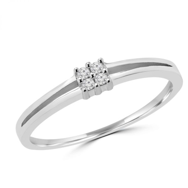 0.04 carat diamond promise ring in 10k gold