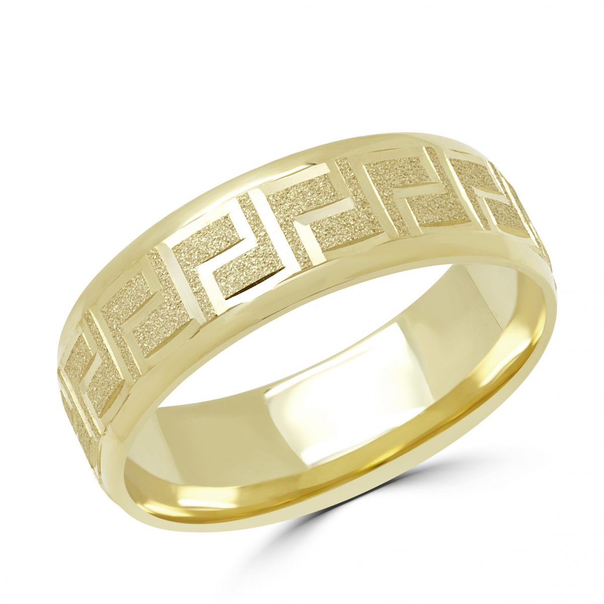 Home Rings Gold Wedding Bands Greek Key