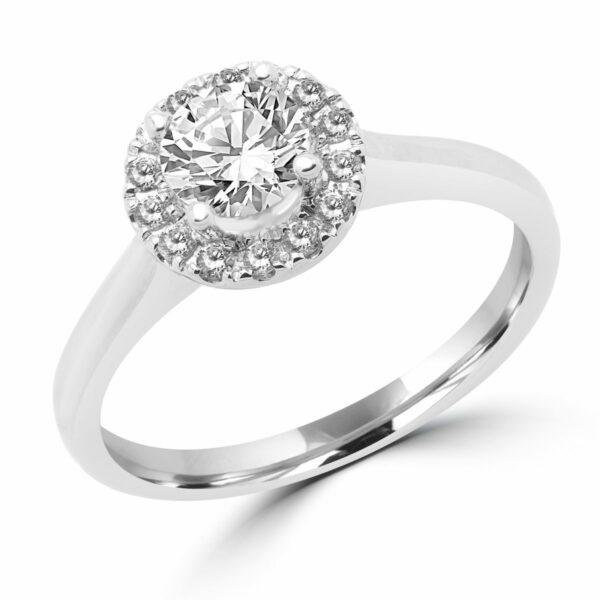 Eternal love halo engagement ring 0.67 (ctw) 14k white gold
